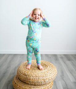 Little SleepiesMermaid Magic Bamboo Viscose Two-Piece Pajama Set