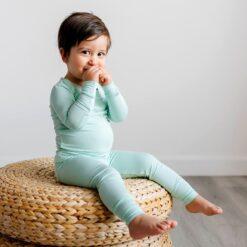 Little SleepiesAquamarine Bamboo Viscose Two-Piece Pajama Set