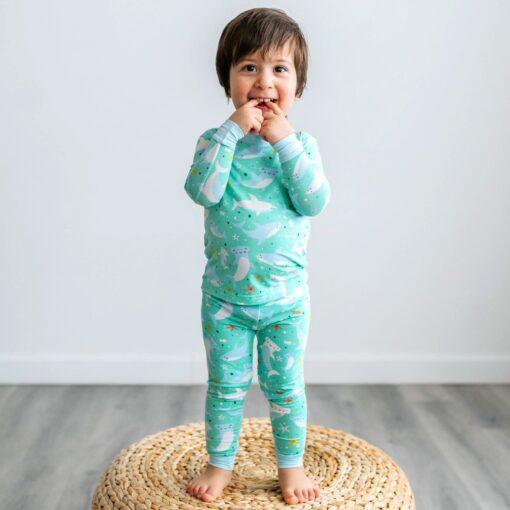 Little SleepiesShark Soiree Bamboo Viscose Two-Piece Pajama Set