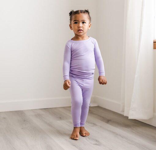 Little SleepiesWisteria Bamboo Viscose Two-Piece Pajama Set