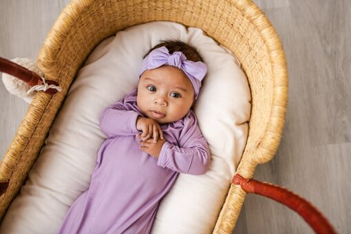 Little Sleepies Wisteria Bamboo Viscose Infant Knotted Gown