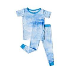 Little Sleepies Blue Watercolor Short Sleeve Two-Piece Pajama Set