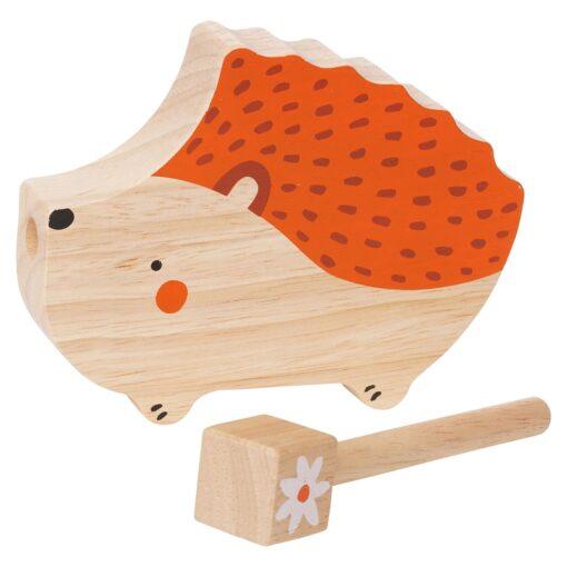 Llama Clacker and Hedgehog Guiro and Bear Rattle Musical Toys
