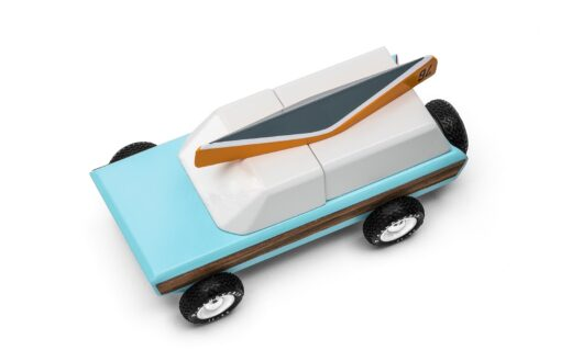 Wooden Pioneer Car in Blue Kids Toy by Candylab Toys