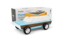 Vintage Style Wooden Pioneer Camper Car Kids Toy
