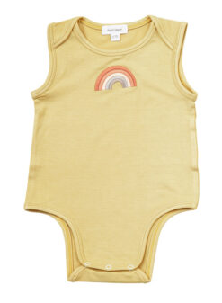 California Dreaming Rainbow Onesie in Yellow by Angel Dear