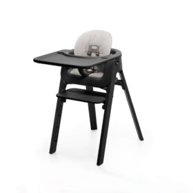 Black Legs with Black Seat and Grey Cushion