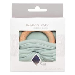 Kyte Baby Lovey in Sage with Removable Wooden Teething Ring