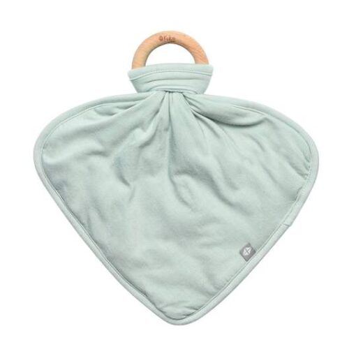 Kyte Baby Sage Fabric Lovey with Wooden Teether Ring