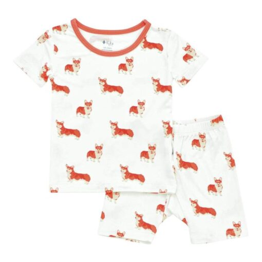 Kyte BABY Short Sleeve Toddler Pajama Set in Corgi