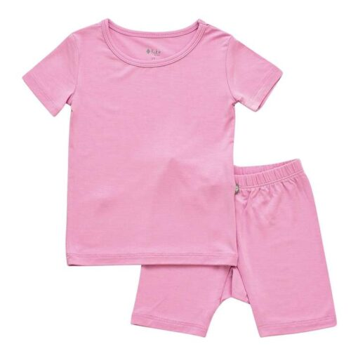 Kyte BABY Short Sleeve Toddler Pajama Set in Bubblegum