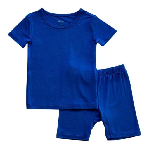 Kyte BABY Short Sleeve Toddler Pajama Set in Indigo