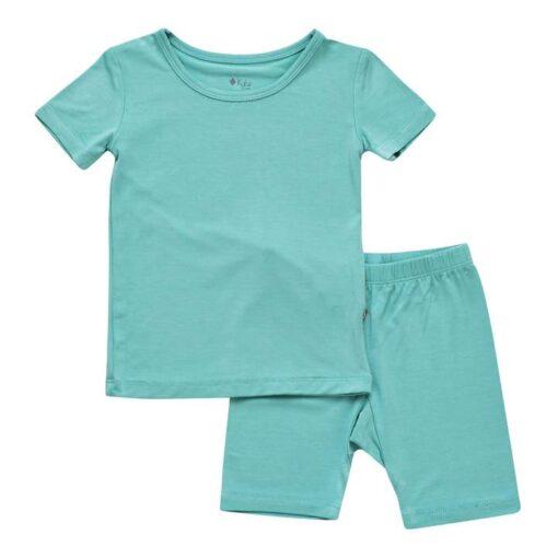 Kyte BABY Short Sleeve Toddler Pajama Set in Jade