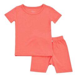 Kyte BABY Short Sleeve Toddler Pajama Set in Melon