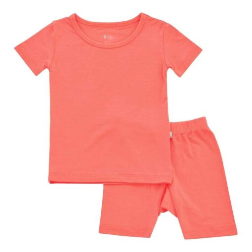 Kyte BABY Short Sleeve Toddler Pajama Set in Melon