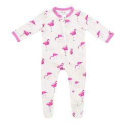 Kyte BABY Zippered Footie in Flamingo