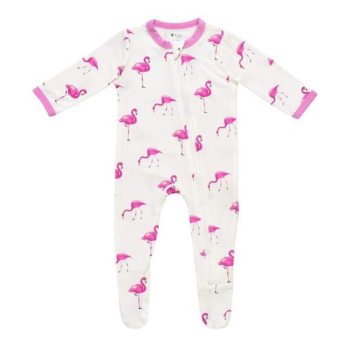 Kyte BABY Zippered Footie in Flamingo