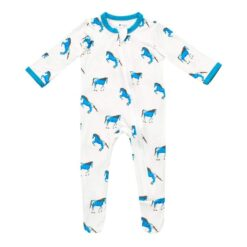 Kyte BABY Zippered Footie in Horse