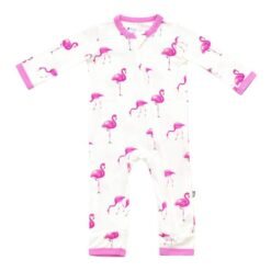 Kyte BABY Zippered Romper in Flamingo