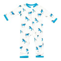 Kyte BABY Zippered Romper in Horse