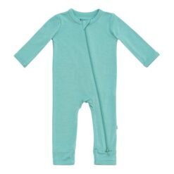 Kyte BABY Zippered Romper in Jade