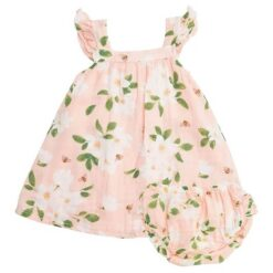 Angel Dear Magnolia Muslin Sundress and Bloomers Set
