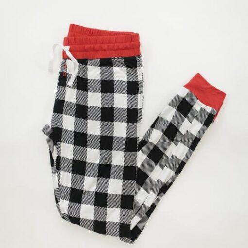 Little Sleepies Buffalo Plaid Bamboo Pajama Matching Pants