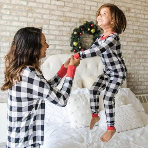 Little Sleepies Winter Buffalo Plaid Womens' Matching Pajamas