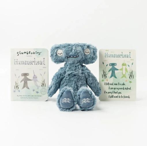 Slumberkins Hammerhead Kin and Board Book Bundle
