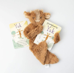 Slumberkins Yak Snuggler and Board Book Bundle