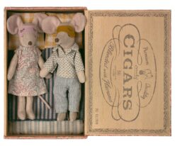 Maileg Mum and Dad Mice in Cigar Box