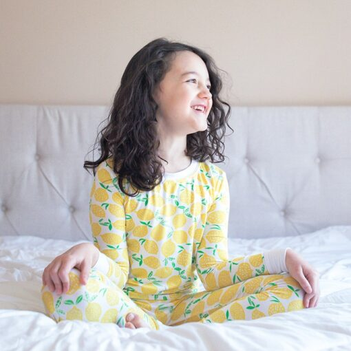 Little Sleepies Lemons Bamboo Viscose Long Sleeve Two-Piece Pajama Set
