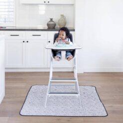 BapronBaby Organic Dot Splash Mat Waterproof High Chair Mat