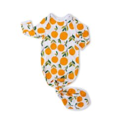 Little Sleepies Clementines Swaddle & Headband Gift Set