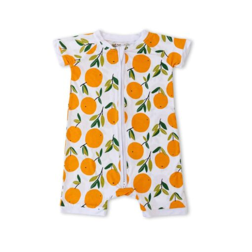 Little Sleepies Clementines Shorty Bamboo Viscose Zippy