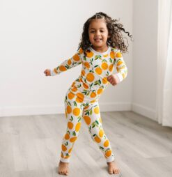 Little Sleepies Clementines Bamboo Viscose Long Sleeve Two-Piece Pajama Set