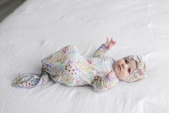 Little Sleepies Flower Fields Bamboo Viscose Infant Knotted Gown