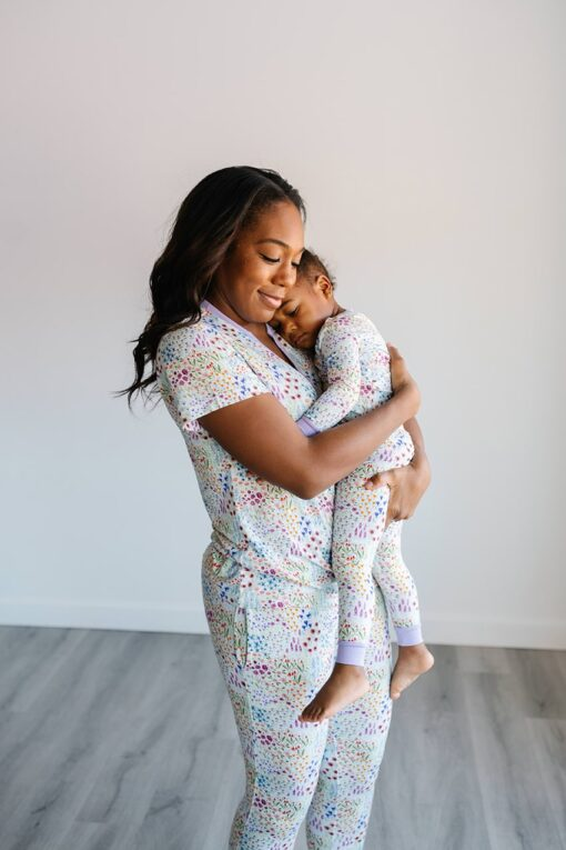 Little Sleepies Bamboo Flower Fields Women's Pajamas with Short Sleeves and Pants (Sold Separately)