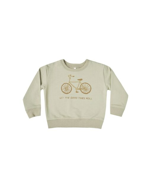 Rylee + Cru Bike Terry Sweatshirt in Sage