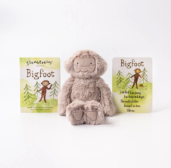 Slumberkins Bigfoot Kin in Rose and Board Book Bundle