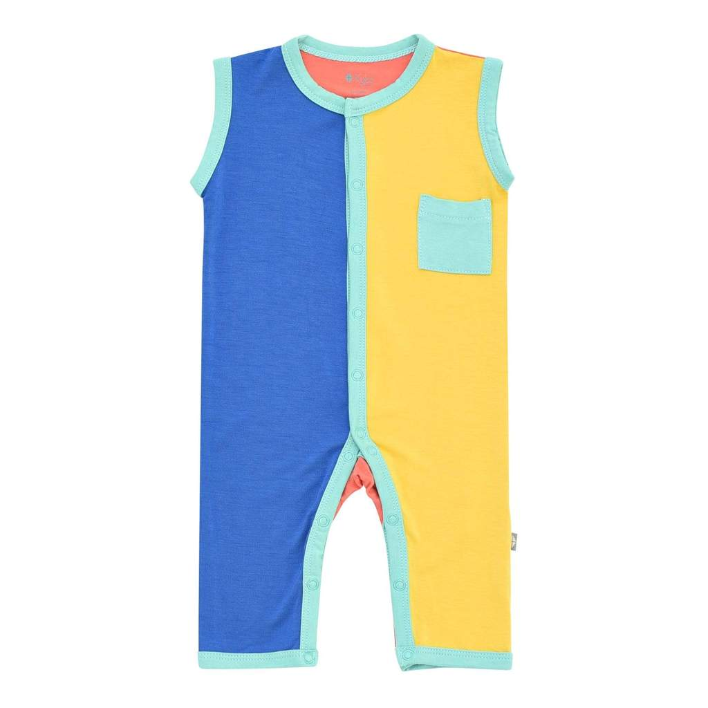Kyte BABY Jade Limited Edition Colorblock Sleeveless Romper