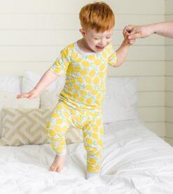 Little Sleepies Lemons Short Sleeve Bamboo Viscose Two-Piece Pajama Set