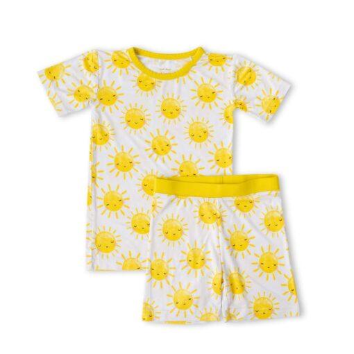 Little Sleepies Sunshine Short Sleeve and Shorts Bamboo Viscose Two-Piece Pajama Set
