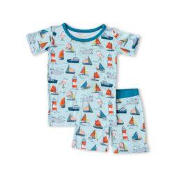 Little Sleepies Set Sail Short Sleeve and Shorts Bamboo Two-Piece Pajama Set