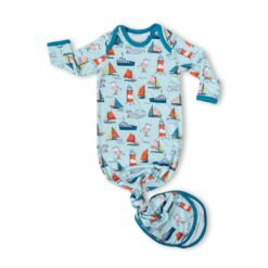 Little Sleepies Set Sail Bamboo Viscose Infant Knotted Gown