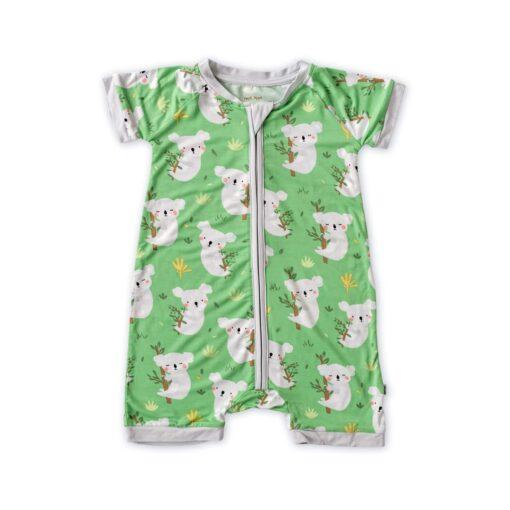 Little Sleepies Green Koalas Shorty Bamboo Viscose Zippy