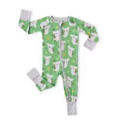 Little Sleepies Green Koalas Bamboo Viscose Convertible Zippy