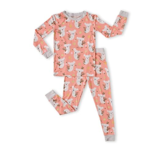 Little Sleepies Coral Koalas Bamboo Viscose Two-Piece Pajama Set