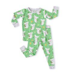 Little Sleepies Green Koalas Bamboo Viscose Two-PIece Pajama Set