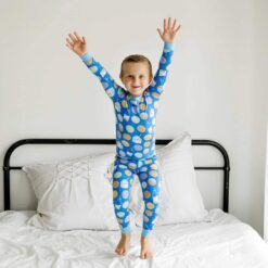 Little Sleepies Blue Cookies & Milk Bamboo Viscose Two-Piece Pajama Set